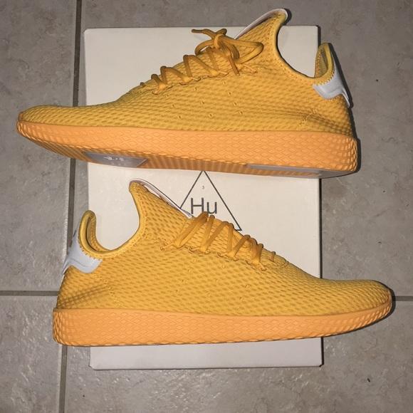 94242dd3aea2f Gold Adidas Pharrell Williams Mens Shoes Size 10.5